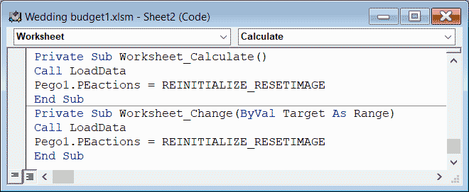 Visual Basic Gigasoft charting inside Excel example code.
