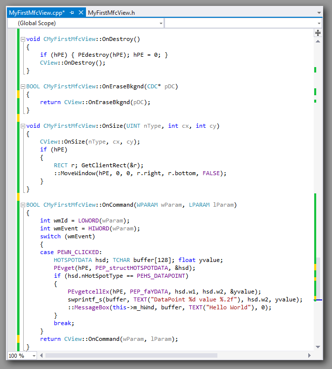 MFC source code window 2.