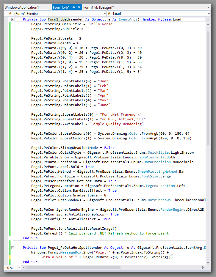 VS2012 Vb.net source code within Visual Studio.