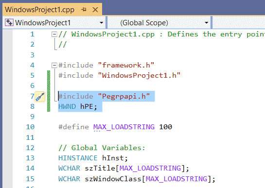 C++ Chart Component adding header file VS2019